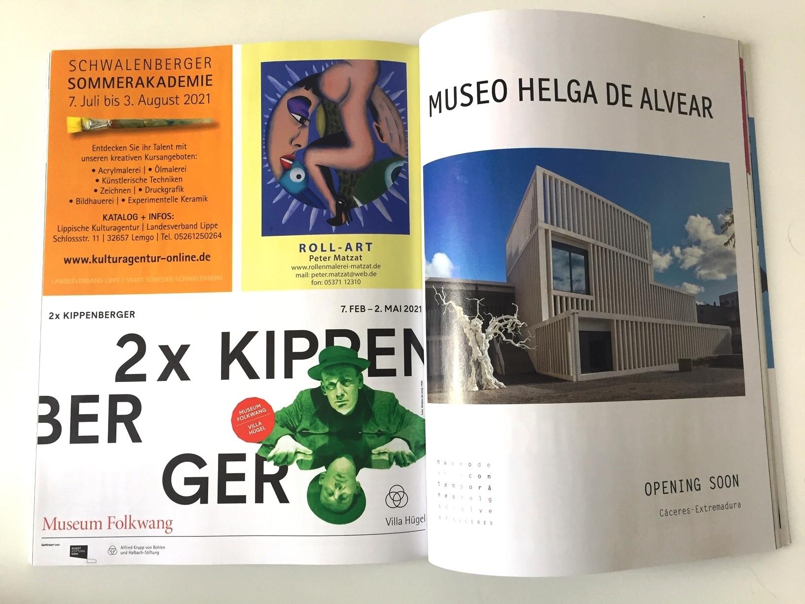 Anzeige im Kunstmagazin art _ Matzat